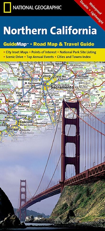 Northern California Road Map & Travel Guide GM06